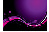 Flowing floral inspired purple background with copy space poster