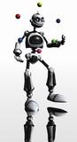 robot juggles poster