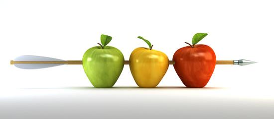 pierced apples