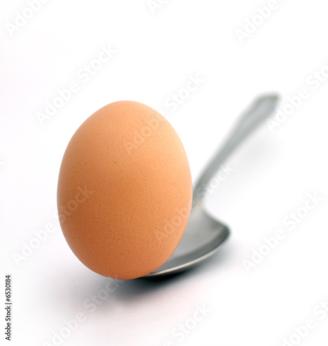 egg on a spoon