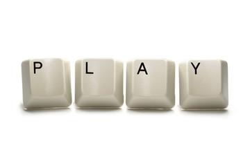 Play - computer keys