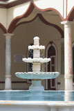 Marble pond in the courtyard of a mosque poster