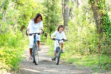 promenade à vélo en pleine nature