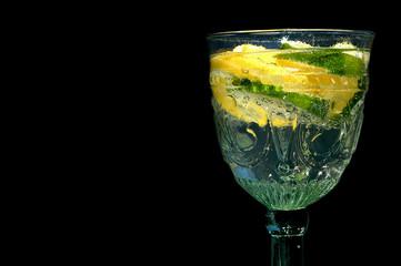 Lemons in a glass