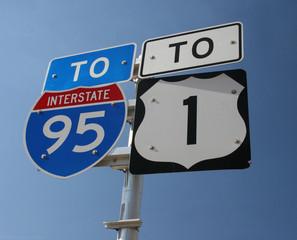 Interstate 95 / US1 Sign