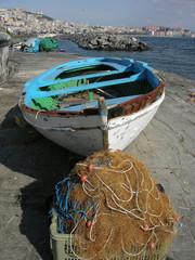 Barca di pescatori a Mergellina Napoli
