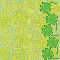 Saint patricks day green background vector