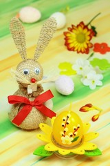 Easter of hare and decoration