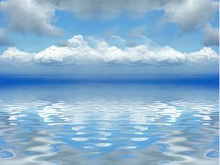 reflets de nuages sur mer