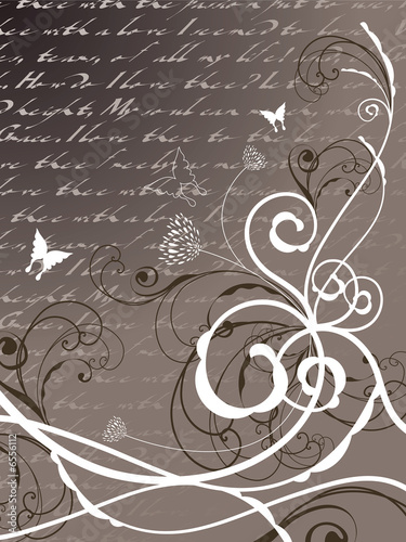 poetry floral butterfly swirl