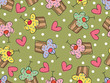 roleta: i love cupcakes (vector) - seamless tile pattern