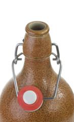 Beer bottle closeup