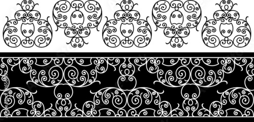 wrought iron elements - repeating left to right
