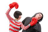 Fight between girlfriend and boyfriend poster