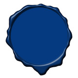 Blue wax empty seal poster
