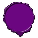 Violet wax empty seal poster