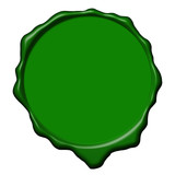 Green wax empty seal poster