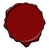 Red wax empty seal poster