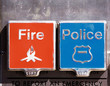 Fire and police alarm boxes
