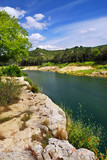 River Gard in southern France poster
