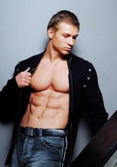Beauty strong bodybuilder