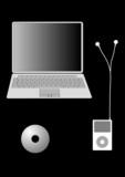 modern technology gadgets illustration poster