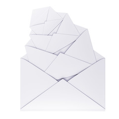 letters, envelopes isolated
