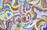 Fototapety Retro swirls and curves