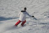 Skieur en action poster