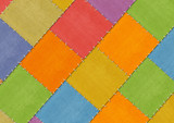 Background - tailored slices of a fabric in style patchwork poster
