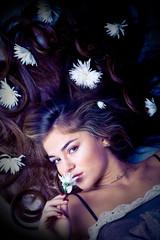 Flowers in beautiful hair