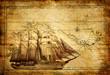 Leinwandbild Motiv adventures stories - vintage background