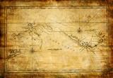 Fototapeta retro - podróż - Mapa / Świat