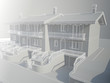 Detaily fotografie Render do drátového řadových domků