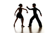 Young dancers in latin dance pose poster