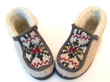 knitted slippers poster