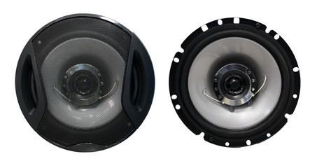 Audio speaker with and without grid cover