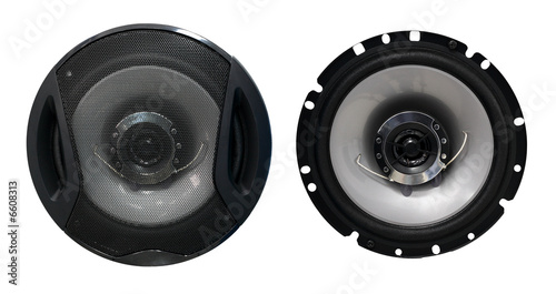 Audio speaker with and without grid cover - 6608313