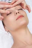 beauty saln series. facial massage poster