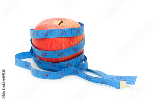 Red apple illustrating fruit dieting concept