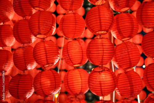 Naklejka Czerwone latarnie
