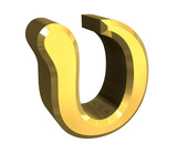 upsilon symbol in gold (3d)