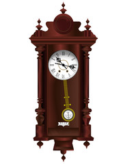 Antiquarian wooden clock