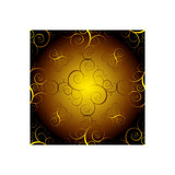 Golden seamless repeating pattern poster