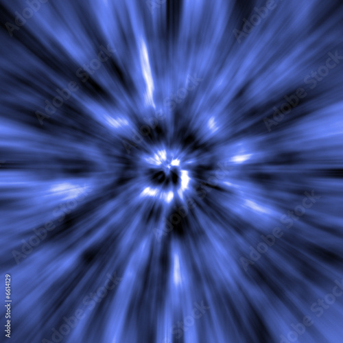 Blue Warp Abstract