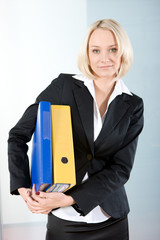 beautiful businesswoman with files1