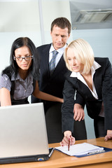 an business team working