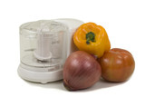 Food Chopper And Vegetables