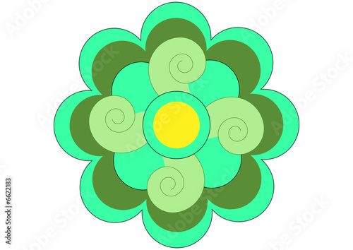 stylised lotus flower pattern