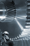 engineering and steel background poster